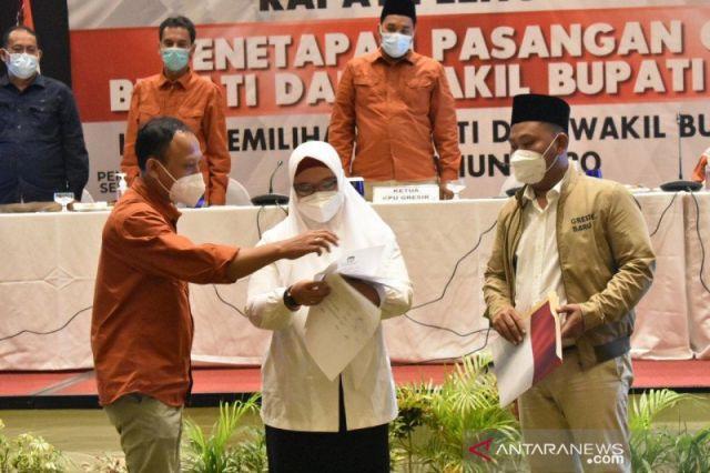 Pasangan Niat Resmi Ditetapkan KPU Gresik sebagai Pemenang Pilkada
