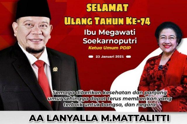 Ketua Senator Ucapkan Selamat Ultah dan Doa untuk Presiden ke-5